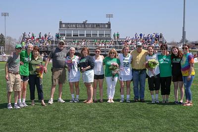 4/14/2018 YCP Women's Lacrosse-Seniors with Parents