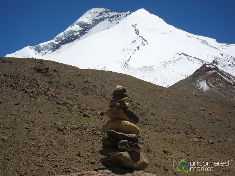 Stones Stacked Up Below Kang Yaze Peak - Markha Valley Trek, Ladakh