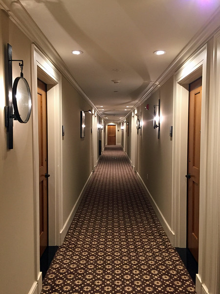 Hallway at the Taconic Hotel in Manchester, VT