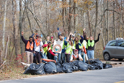 11.10.12 Cleanup on Deep Run & Race Road in AA Co. w/ Lockheed Martin & Members of the Public
