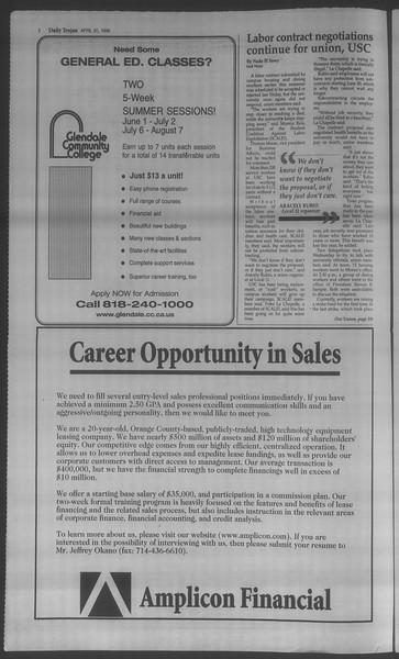 Daily Trojan, Vol. 133, No. 62, April 20, 1998