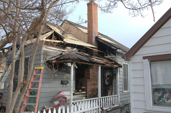 Chimney fire severly damages house on Water St in Jackson.