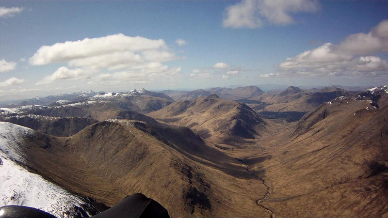 Looking southwest down Glen Etive (and what should have been the route back!)