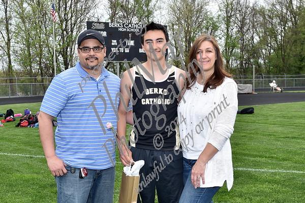 Berks Catholic vs Fleetwood Track Senior Day 2015