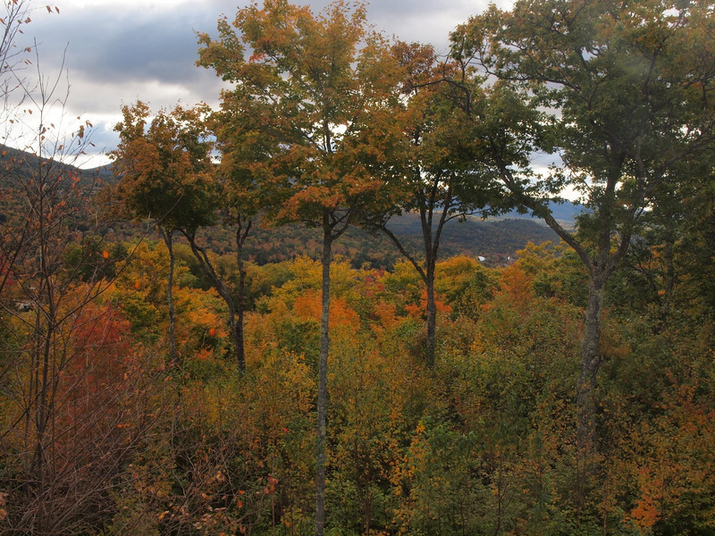 View from the balcony of our condo at Jackson, New Hampshire