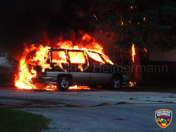 Vehicle fire on June 14, 2017