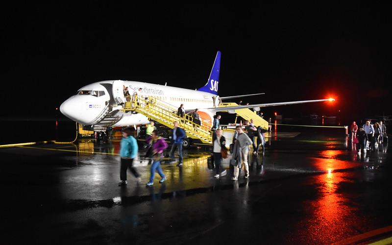 Landing the SAS in Kiruna Airport