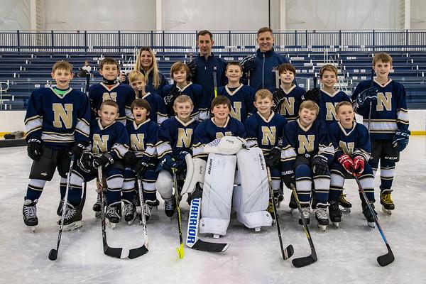 NAVY Ice Hockey Squirt White Team