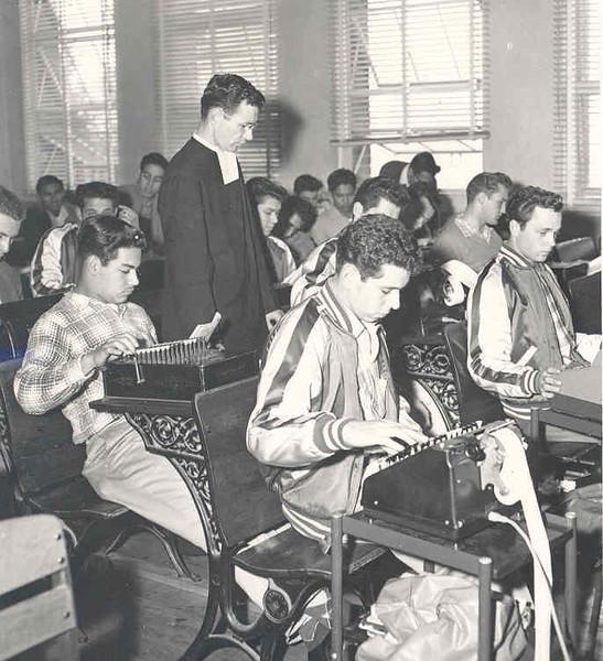 Br. Kenneth's  Business Machines class 1957.jpg