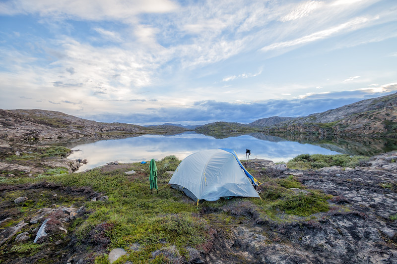 Tent camping in Greenland