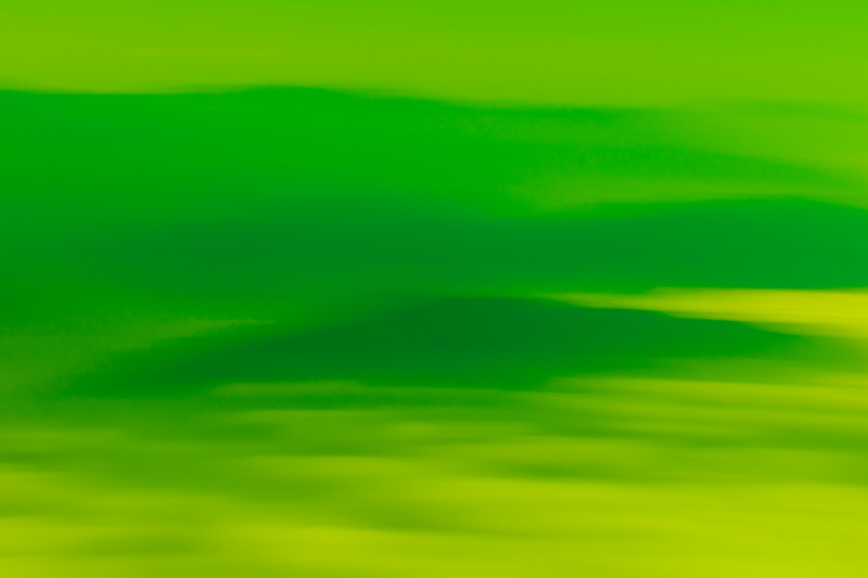 Abstract colors of green looking like hills and calm.