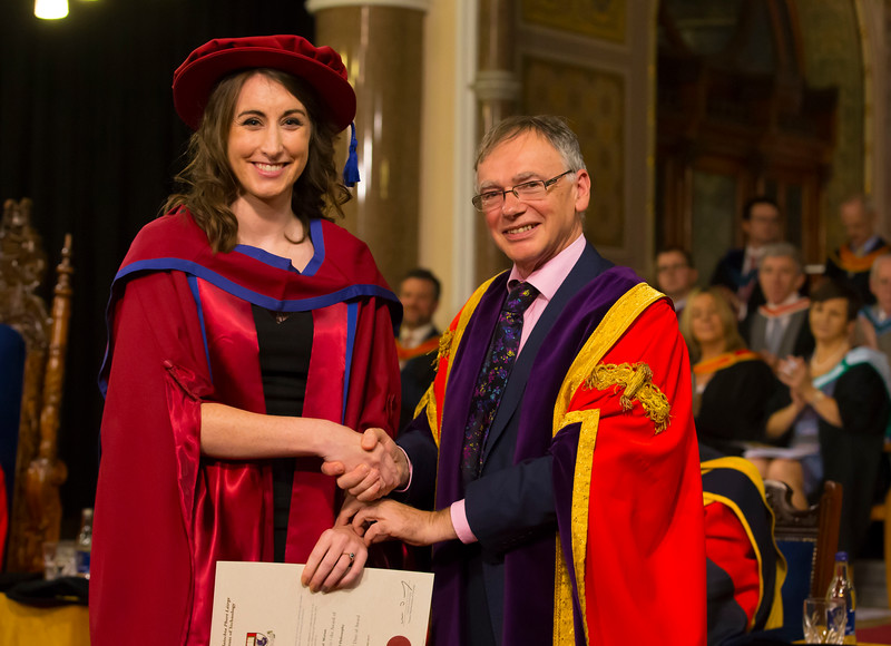 03/11/2017. Waterford Institute of Technology Conferring. Pictured is Rachel Moran who was conferred a PhD, also pictured is Prof. Willie Donnelly, President of WIT.  Picture: Patrick Browne.