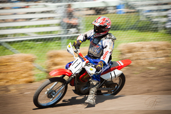 Motocycle motocross racing paning showing motion