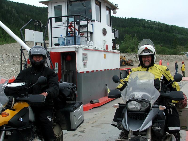 Yukon River Ferry Crossing at Dawson City