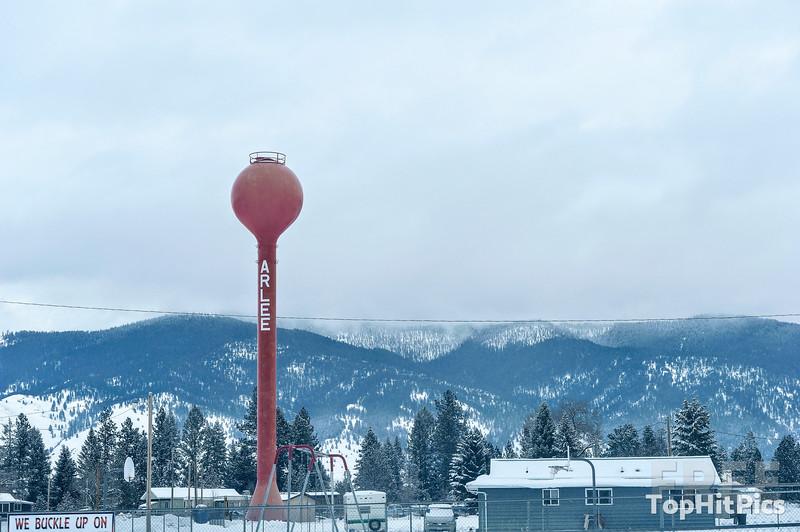 A Winter Scene In Arlee, Montana, USA