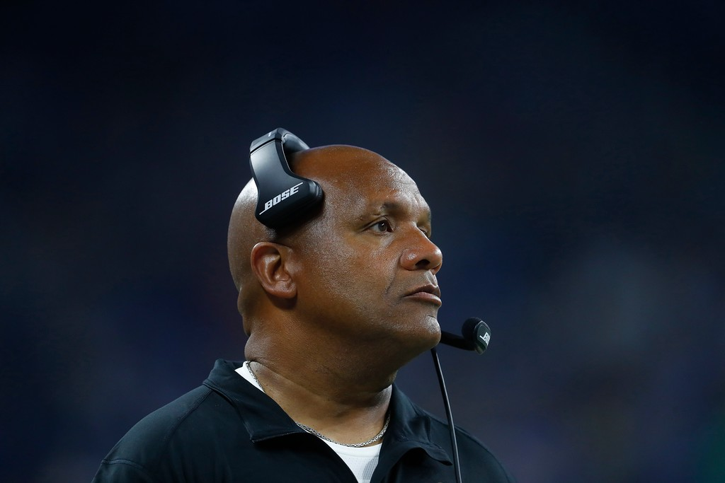 . Cleveland Browns head coach Hue Jackson is seen during the first half of an NFL football preseason game against the Detroit Lions, Thursday, Aug. 30, 2018, in Detroit. (AP Photo/Paul Sancya)