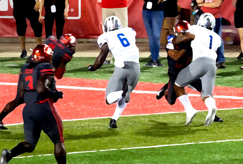 Drybrush impression of Taylor running in yet another Memphis TD