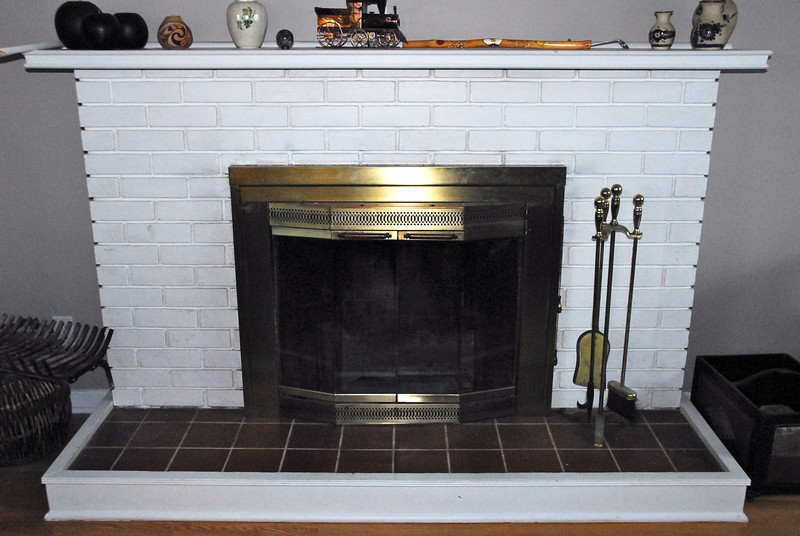 This was the fireplace before we attacked it