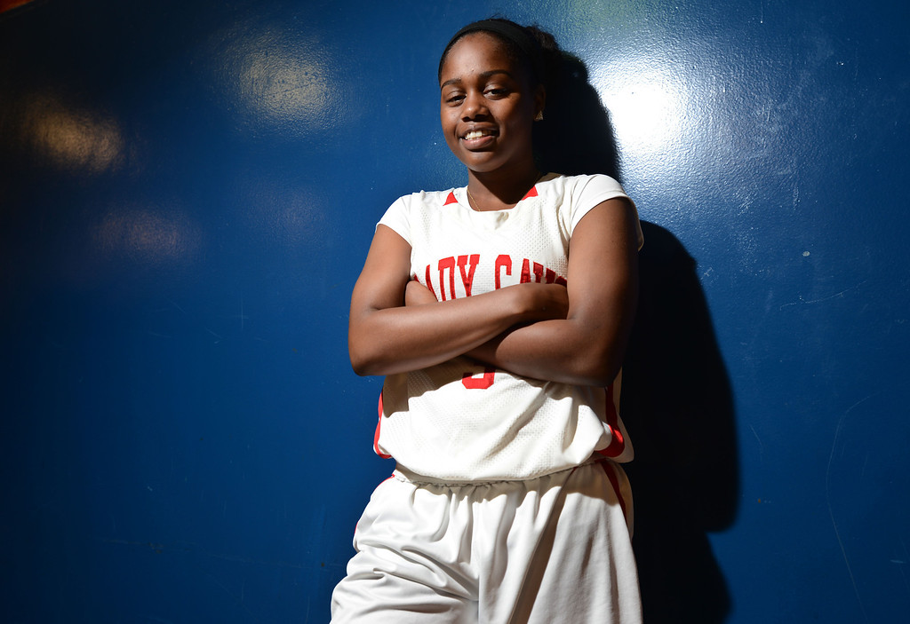 . Gardena, Calif., -- 03-28-13-  Siera Thompson, the 2013 Daily Breeze Player of the Year. She helped lead Serra to win its first state title.   Stephen Carr/  Los Angeles Newspaper Group