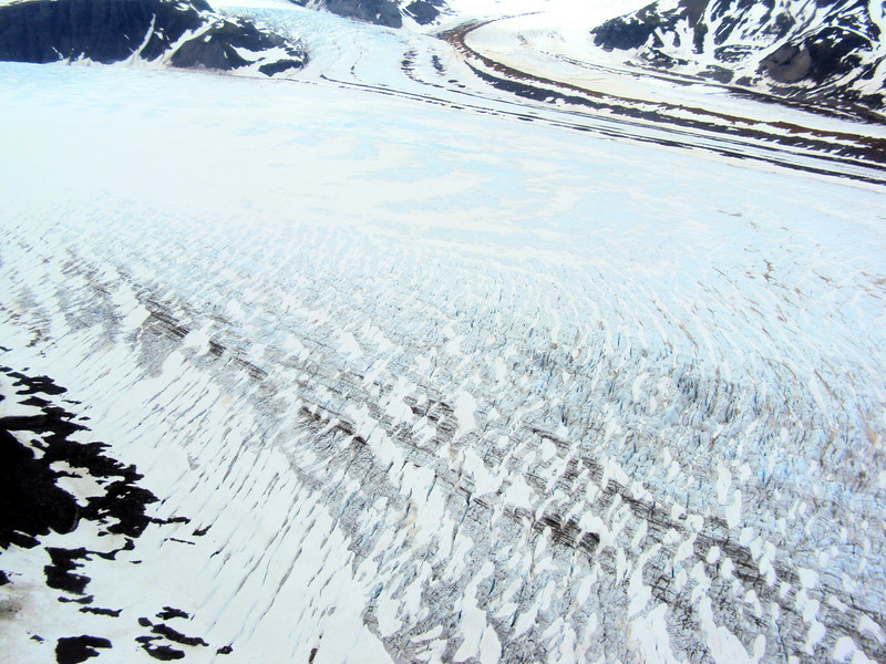 Glacier in Katmai National Park from the Air