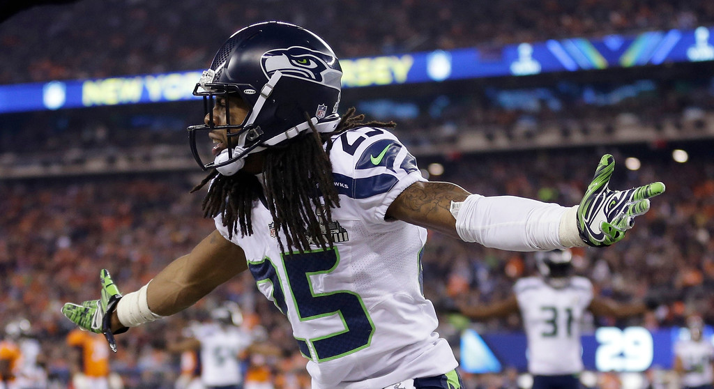 . <p><b>24. RICHARD SHERMAN</b> <p>Doesn�t let his in-game inactivity distract from his post-game pontification about himself. <p>    (AP Photo/Jeff Roberson)