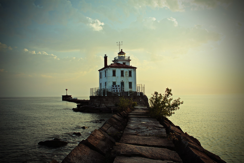 Lighthouse at Fairport Harbor, Mentor, Ohio