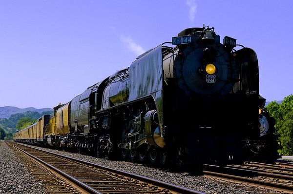 Union Pacific 4-8-4 #844 visits California and other railroad photos