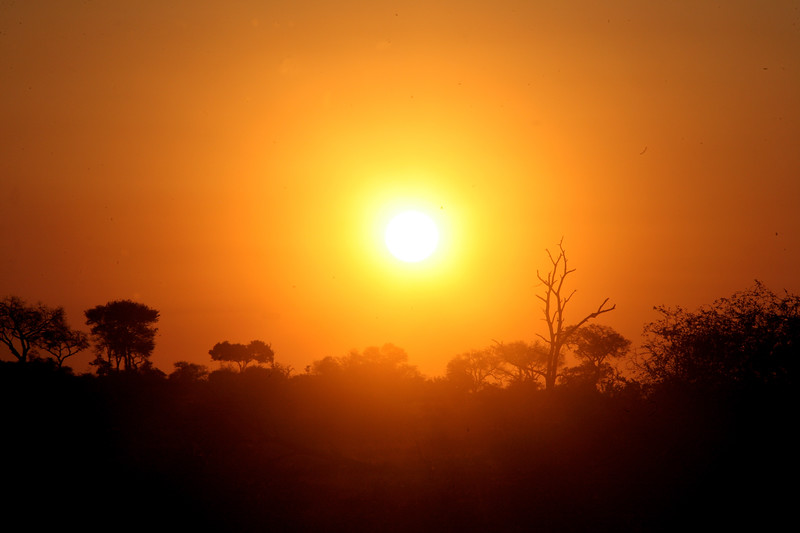 Amy Sweeney photo The sun sets at Kruger National Park, South Africa. May 2014
