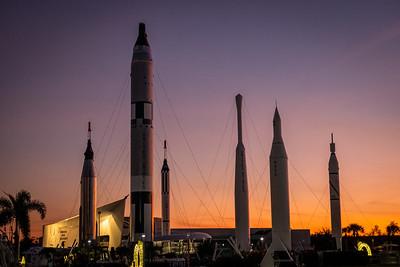 Rocket Garden at Sunset