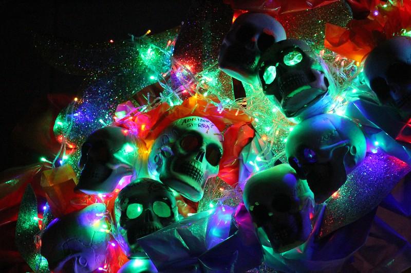 Lighted Skulls