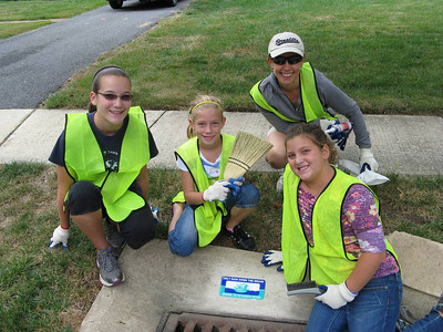 September 2013 Storm Drain Stenciling Project with Catonsville Presbyterian Group