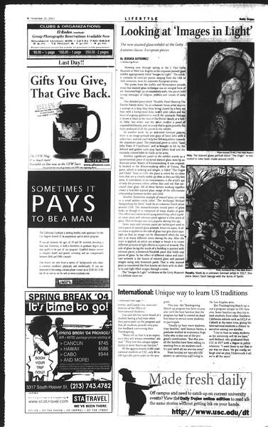 Daily Trojan, Vol. 150, No. 64, November 25, 2003