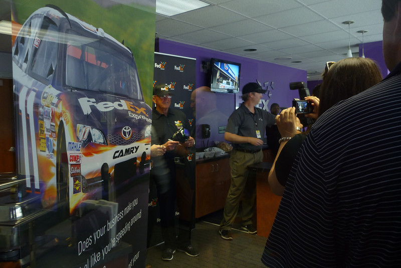 4/27/2013 - Saw Joe Gibbs in the suite next to ours.