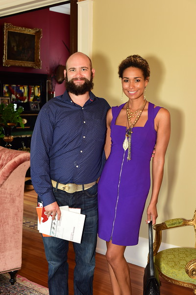 Jeremy Beer and Katie Rost, Cocktails at Selma Mansion, June 7, 2018, Nancy Milburn Kleck