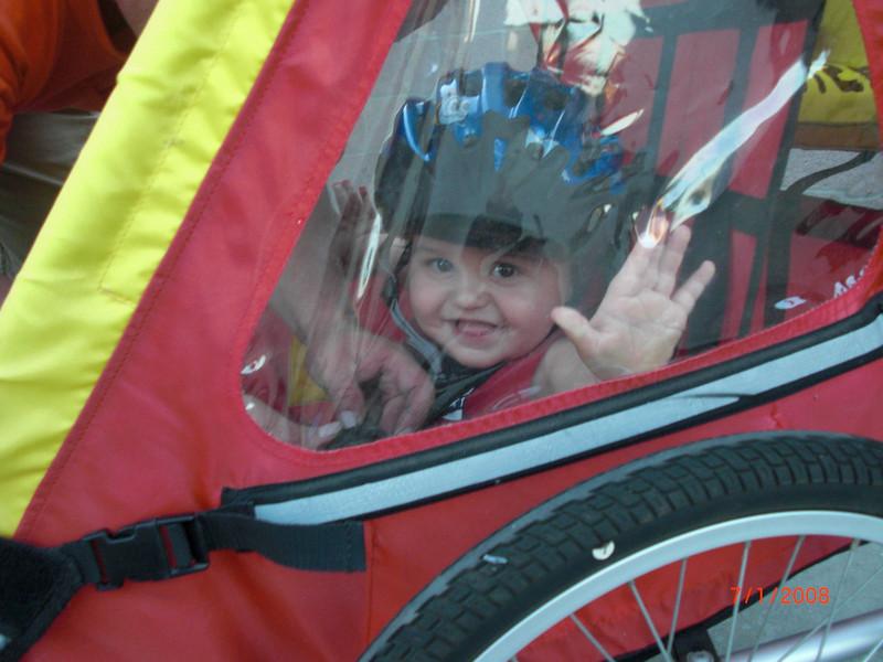 First bike ride was fun.