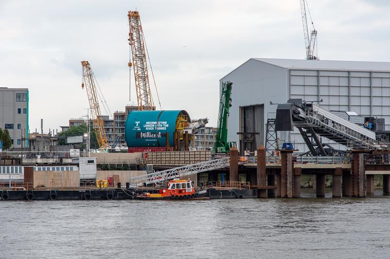 Thames Tideway Super Sewer tunnel boring machine