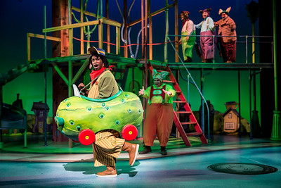 Busytown  at Childrens Theatre Company.  Featuring Kasono Mwanza in the Pickle Car.