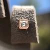 .52ctw Asscher Cut Diamond Bezel Stud Earrings, 18kt Rose Gold 26
