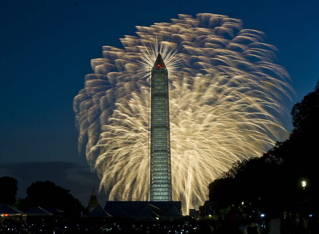 . Fourth of July Independence Day fireworks are seen over the Washington Monument, July 4, 2013 in Washington, MLADEN ANTONOV/AFP/Getty Images