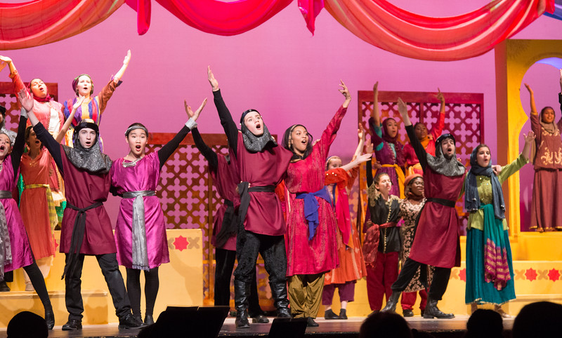 "Chief Policeman, Policemen, Passers-By (""He's in Love!"") -- Kismet, Montgomery Blair High School spring musical, April 15, 2016 performance (Silver Spring, MD)"