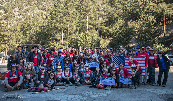 Climb for Heroes 2017 - SoCA hikers