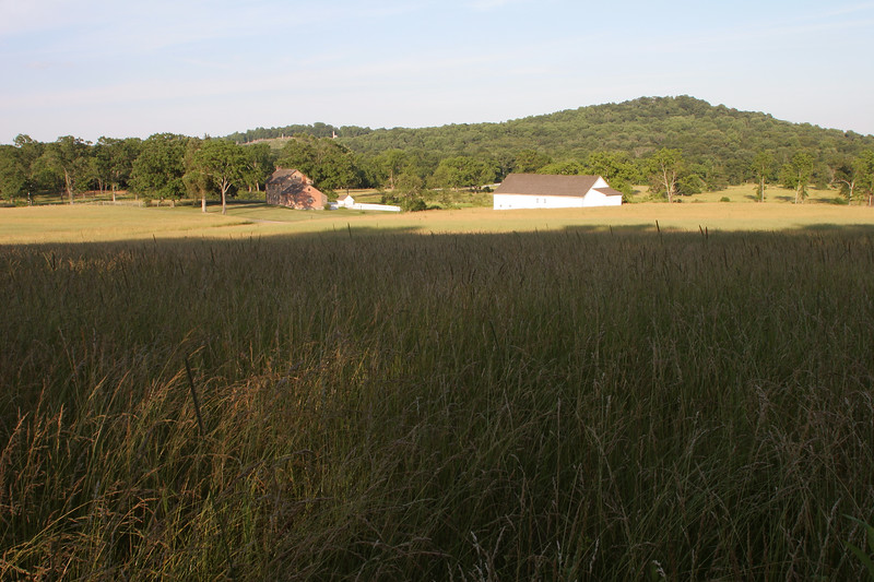 The Bushman Farm. Texas and Georgia troops passed through here on the way to the Round Tops and Devil's Den.