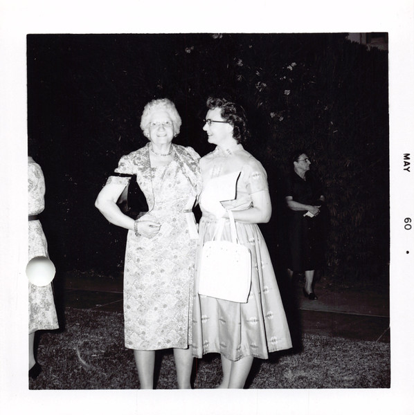 Mable Main and Frankie. She was one of Mom's teachers in high school. This was at Phil's high school graduation. I just noticed that it looks like Karen's grandma in the background.
