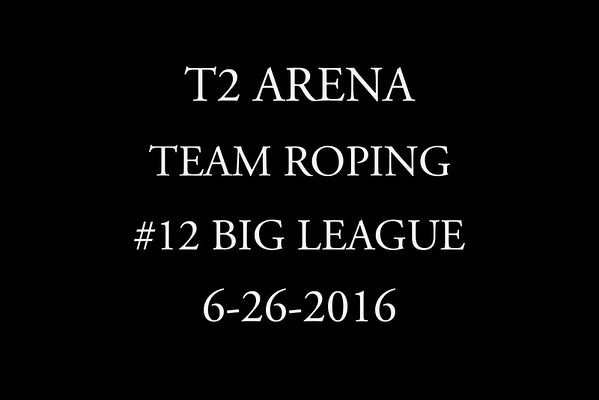 6-26-2016 Team Roping #12 'Big League'