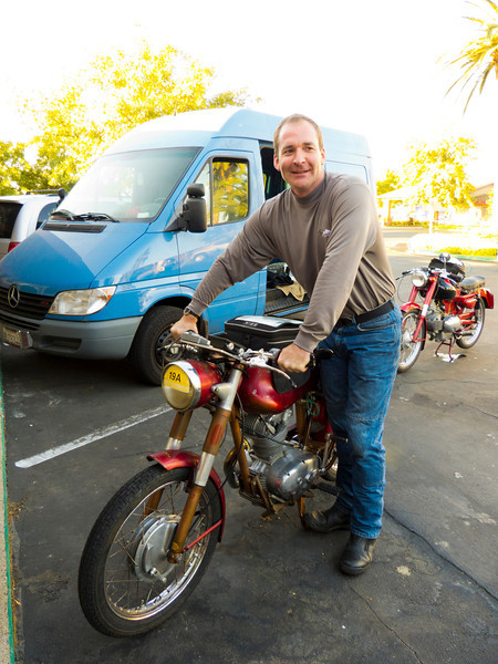 Steve Crocker and his Ducati that just had a new engine installed 12 hours before.