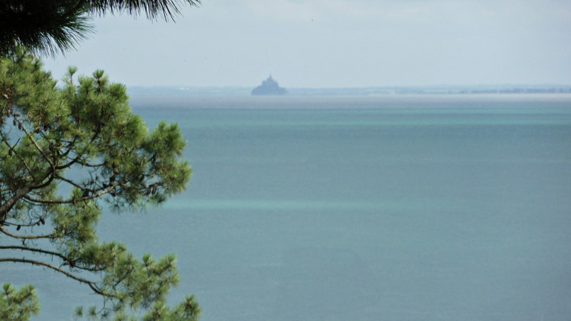 On a clear day, you can see France's famous Mont Saint Michel int the distance.  We were lucky!