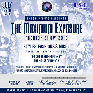 Chuck Pfoutz Presents: The Maximum Exposure Fashion Show 2018
