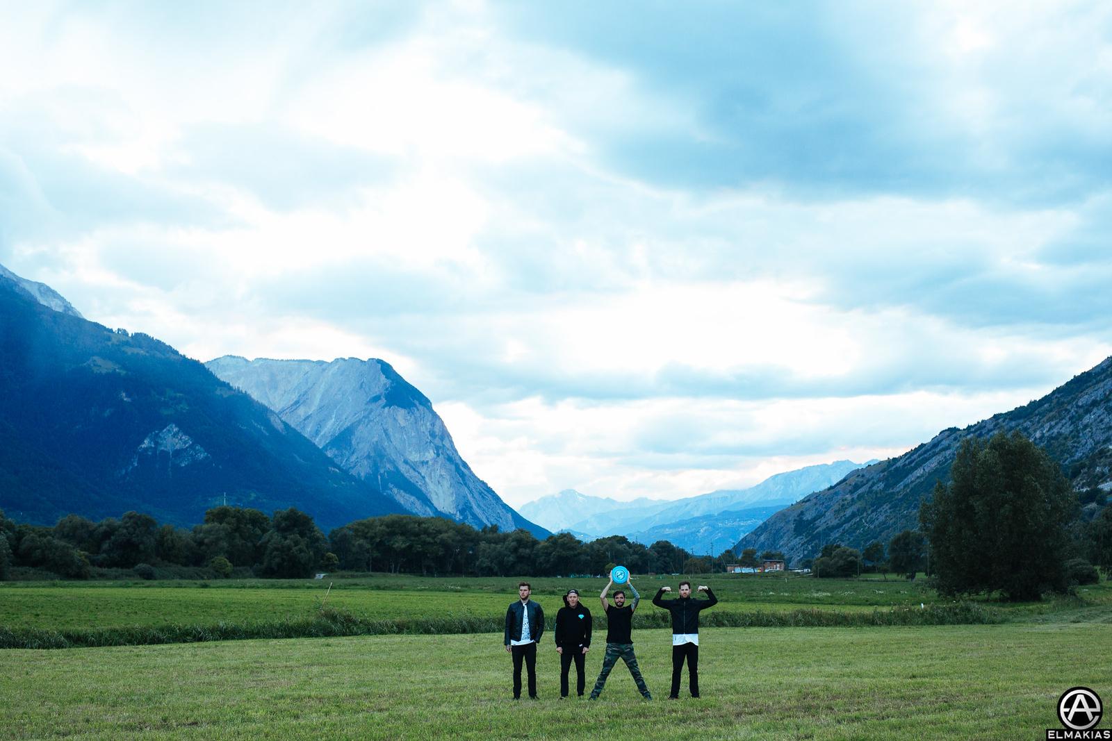 We played frisbee! in Switzerland
