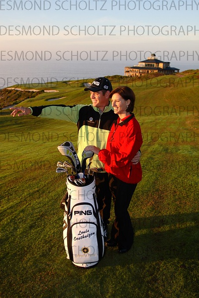 Golfer Louis Oosthuizen and wife Nel-Mare