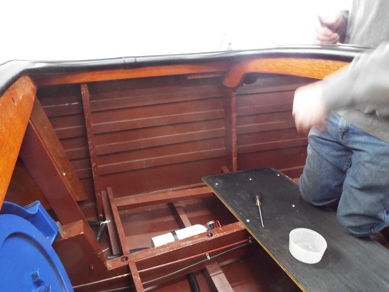 Cockpit liner removed.